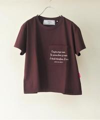20AW Short T-shirt 我思う故に我あり【2203854】