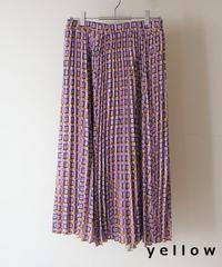 square print pleats skirt【2194617】