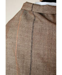 焦茶地七子織×綾織ライン (品番1902-07)