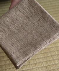 紬織出袱紗 網代格子