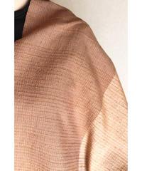 茶七子織 × 赤橙色ライン 七子織  (品番1802-06)
