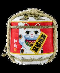神鶴 招き猫樽 純米酒 300ml