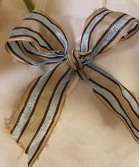 フランス製りぼん  ブルーライン 1メートル