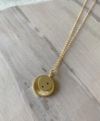 Moon and Star Medallion Necklace