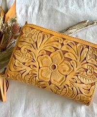 Flower Leather Wallet