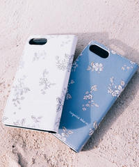 """iPhone Diary Cover  """"Floral"""" / 2 Colors"""
