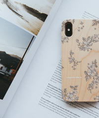 """Wooden iPhone Cover """"Floral"""""""
