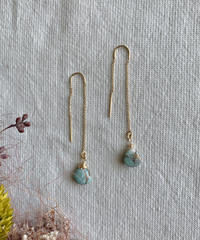 Wave Kalusaito Earrings  / blue