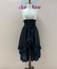 《MARBLE》バッスルリボン付コルセット風巻スカート 40484