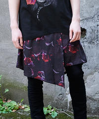 《JURY BLACK》ローズウィング巻きスカート 12074261001