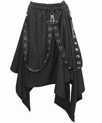 《Deorart》ハトメベルト付き ユニセックス変形スカート DRT2333