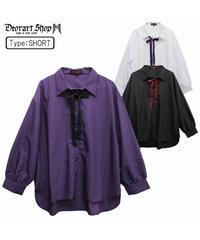 《Deorart》リボンネクタイ付 モダール リラックスシャツ DRT2522