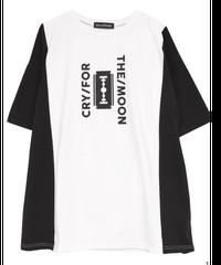 《ヘルキャットパンクス》CRY FOR THE MOON 切り替えビッグTシャツ  HCP-T-0118