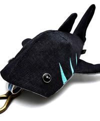 生デニム6+サメさん6月のステッチは水色💙