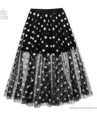 《LISTEN FLAVER》スターチュールレイヤードスカート 2013519