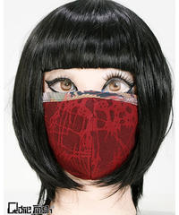 《QutieFrash》ファッションマスク〜ブークレー×和柄パイピング〜 7756-AC
