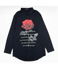 《JURY BLACK》フロントローズプリントシャツ 12023261003