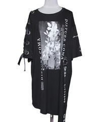 SEXPOT ReVenGe sa68768 COMA LACE UP SLEEVE ASYMMETRY デザイン カットソー