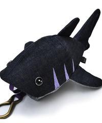 KASEI/カセイ 12ヶ月連続企画 5月のサメさん 生デニム6+ ステッチカラー藤色