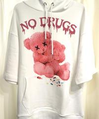 Amilige  NO!DRUG!半袖BIG パーカー