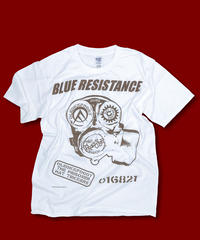 "DONATION『BLUE RESISTANCE』T-SHIRT ""WHITE"""