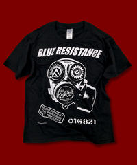 "DONATION『BLUE RESISTANCE』T-SHIRT ""BLACK"""