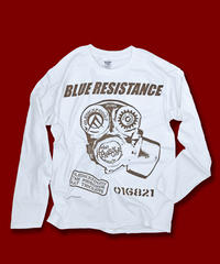"DONATION『BLUE RESISTANCE』LONG-SLEEVE ""WHITE"""