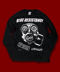"DONATION『BLUE RESISTANCE』LONG-SLEEVE ""BLACK"""