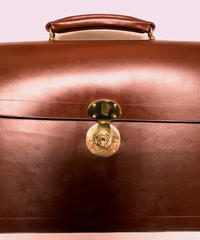 Rutherfords / Flap Over Brief Case  / Chestnut