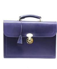 Rutherfords / Flap Over Brief Case  / Navy