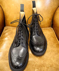 18.01 Rejected Tricker's / Black / Country Brogue Boots / Leather W Sole