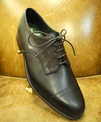 18.97 Rejected Tricker's / Espresso / Plain Toe Derby Shoes / Leather Sole 2Tone / Size 6