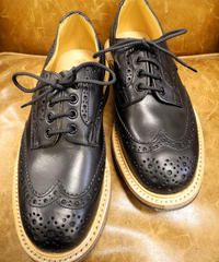 18.21 Rejected Tricker's / Black / Country Brogue Shoes / Command W Sole / Size 7 half