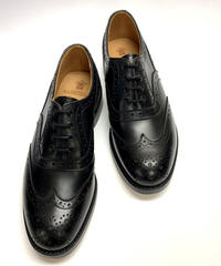 19.07 Rejected Tricker's / Black / Full Brogue Shoes / Leather  W Sole / Size 8