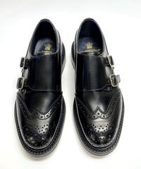 19.30 Rejected Tricker's / Black / Brogue W Monk Shoes / Dainite W  Sole / Size 6H
