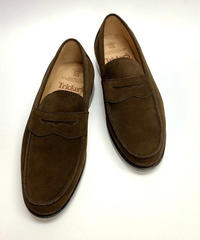19.22 Rejected Tricker's / Dark Brown Suede / Loafers / Leather  Sole / Size 7H