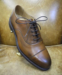 18.92 Rejected Tricker's / Brown / Cap Toe Oxford Shoes / Dainite Sole / Size 6 half