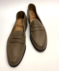 19.25 Rejected Tricker's / Gray Brown / Unlinig Loafers / Leather  Sole / Size 8H