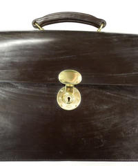Rutherfords / Flap Over Brief Case  / Chocolate
