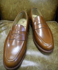 18.41 Rejected Tricker's / Brown / Loafers / Leather Sole / Size 8