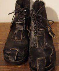 John Moore Unborn Calf  Toe Patch Boots Size 9