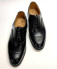 19.03 Rejected Tricker's / Black / Semi Brogue Oxford / Leather  Sole / Size 8H