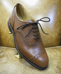 18.81 Rejected Tricker's / Brown / Semi Brogue Shoes / Leather Sole / Size 6