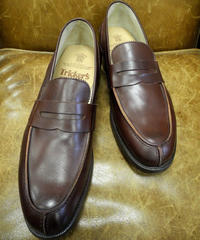 18.34 Rejected Tricker's / Brown / Unlined Loafers / Leather Sole