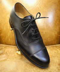 18.83 Rejected Tricker's / Black / Cap Toe Oxford Shoes / Leather Sole 6h