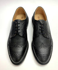 19.36 Rejected Tricker's / Black Grain / Motorway Shoes / Leather  Sole / Size 8