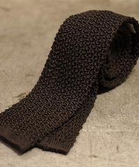 batak House Cut / Silk Knit Tie / Black
