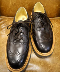 18.33 Rejected Tricker's / Brown / Thistle Gillie Shoes / Rubber Unit Sole / Size 6 half