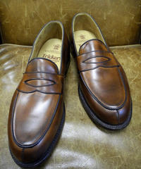 18.40 Rejected Tricker's / Brown Burnished / Loafers / Leather Sole / Size 8 half