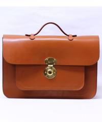Rutherfords / Satchel With 806 Lock  / Large /Ginger